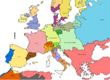 Χάρτης Ευρώπης 1